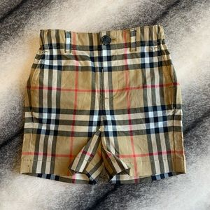 { Burberry } Sean Check Trousers Shorts Infant